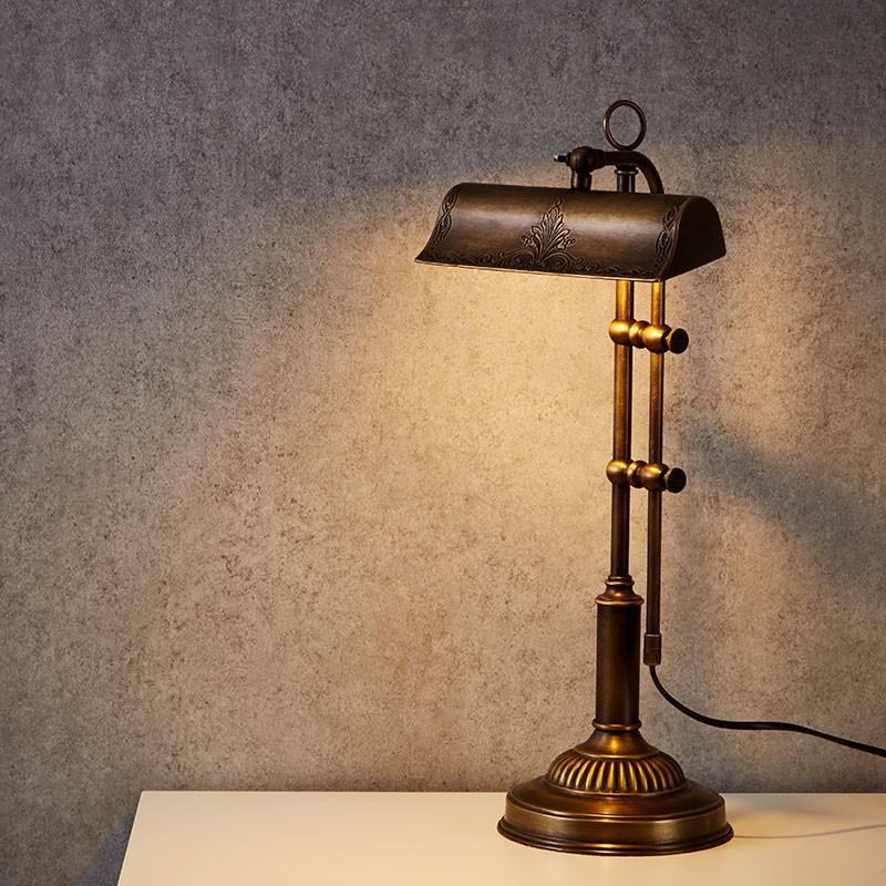 Ornate bankers lamp