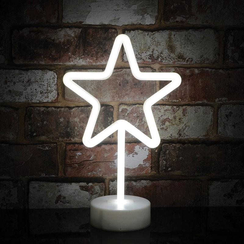 neon star lamp
