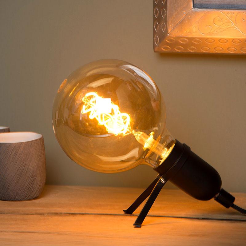 Black Lamp holder table lamp