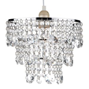 Dar Cybil Crystal Ceiling Pendant Shade - Clear from Lighting Direct