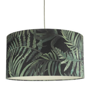 Dar Bamboo Ceiling Pendant Shade - Green Print from Lighting Direct