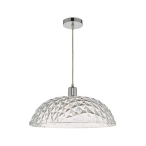 Dar Large Tobin Ceiling Pendant Shade - Clear from Lighting Direct