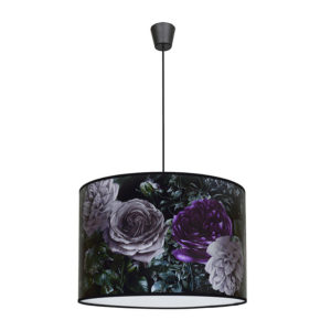 Edit Floral Easy Fit Ceiling Pendant Shade - Black from Lighting Direct