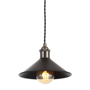 Edit Guard Easy Fit Ceiling Pendant Shade - Matt Black from Lighting Direct