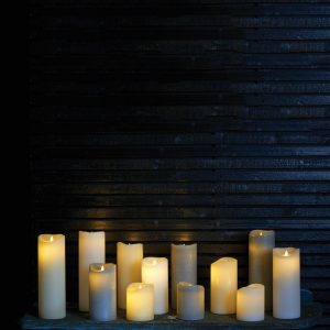 Sirius Sara Battery Operated LED Almond Wax Candle 250mm