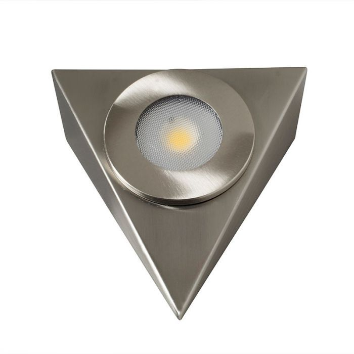 satin chrome cabinet light