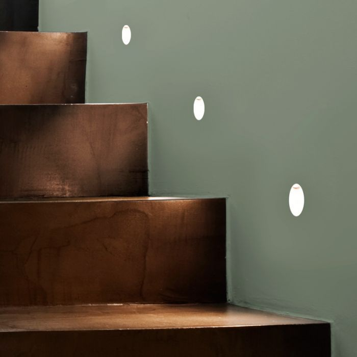 astro leros recessed wall lights