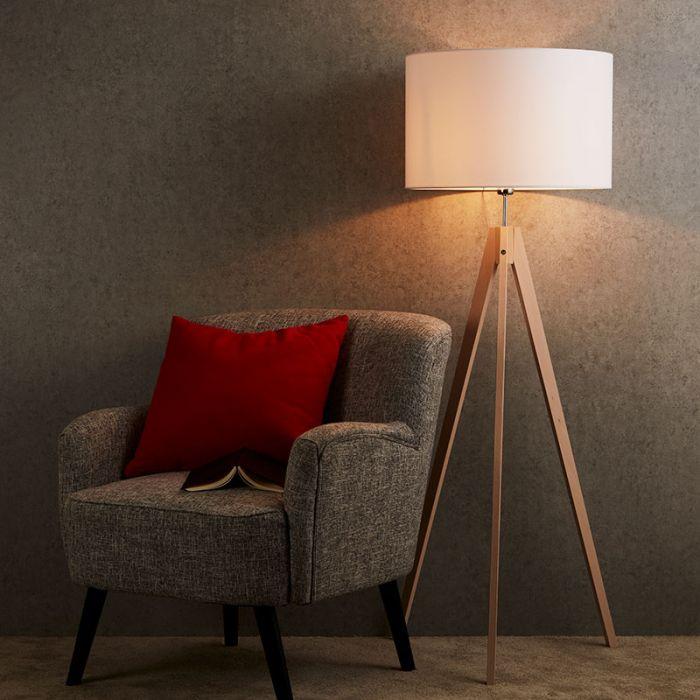 Stylish plug-in floor lamp