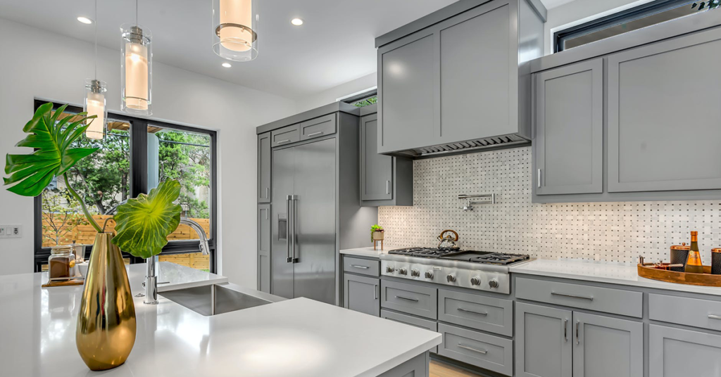 classic classy grey kitchen shaker-style