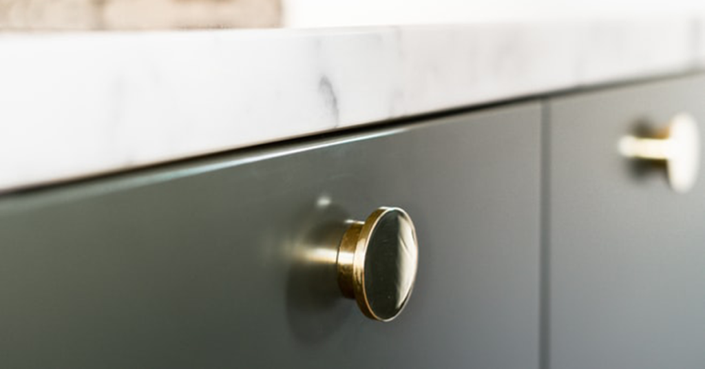 kitchen details handles brass cabinets