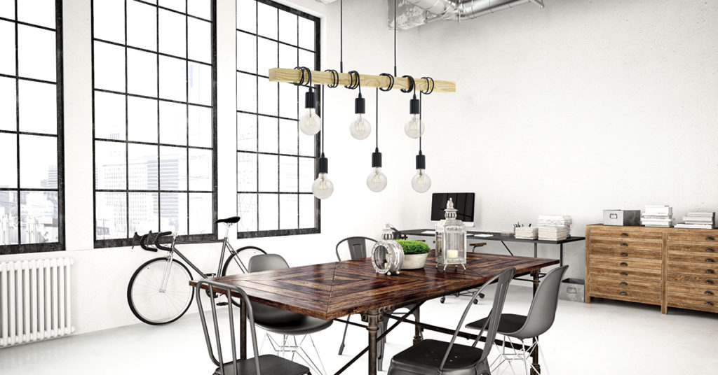 industrial bar pendant light kitchen atmosphere modern