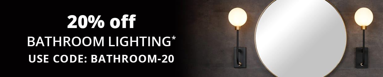20% off Bathroom Lighting
