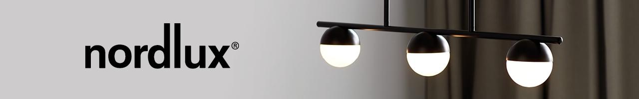 Nordlux designer lighting brand with black 3 sphere bar pendant light