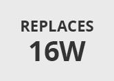 14W (16W) Warm White 2 Pin 2D Watt-Miser Low Energy Bulb
