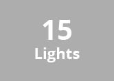 16M Weatherproof Festoon Lighting -15 Black Bulb Holders