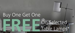 Buy One Get One Free On Selected Table Lamps