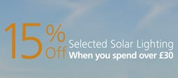 15% Off Selected Solar Lighting