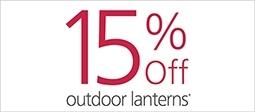 15% Off Outdoor Lanterns
