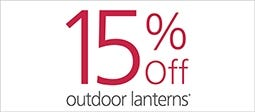 15% Off Selected Outdoor Lanterns