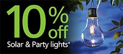 10% Off Solar & Party Lights