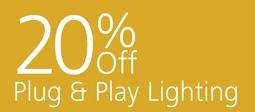 20% Off Plug & Play Lighting