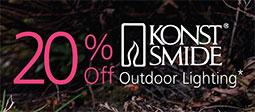 20% Off Selected Konstsmide Outdoor Lighting