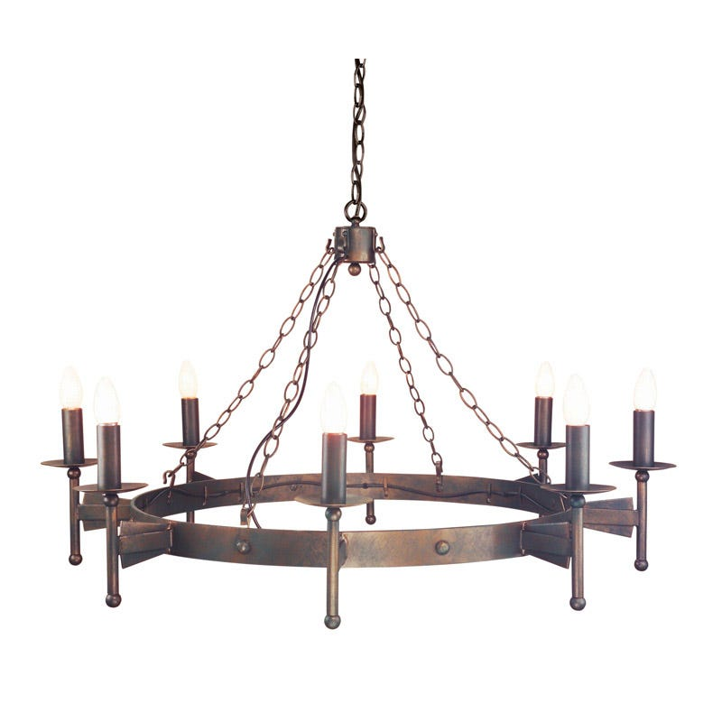 Elstead Cromwell 8 Light Chandelier - Old Bronze
