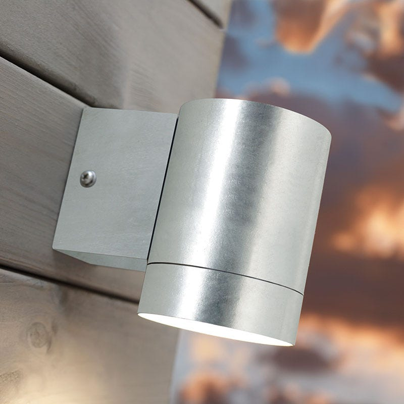 Nordlux Castor Maxi Outdoor Wall Light - Galvanised Steel