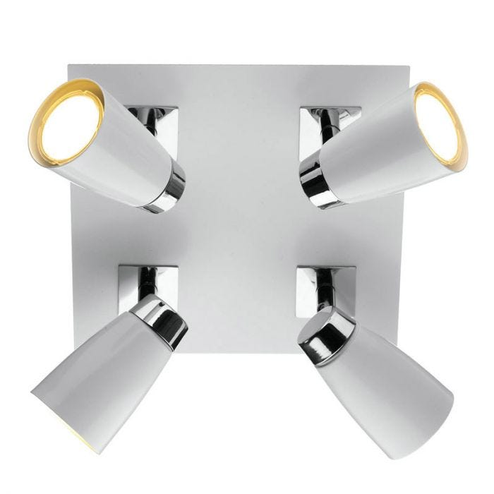 Loft 4 light square plate spotlights lighting direct aloadofball Image collections