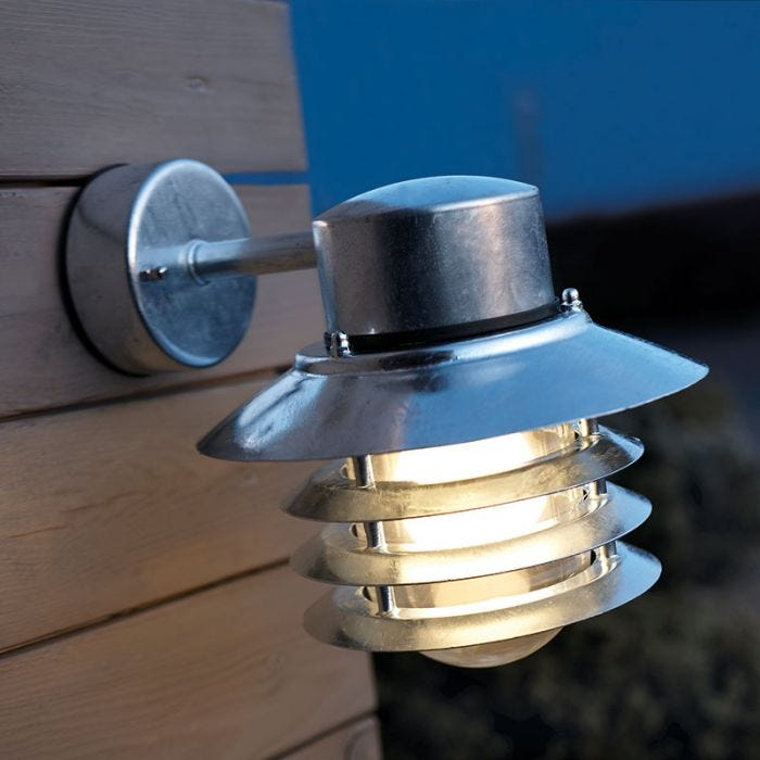 SALE on Nordlux Vejers Outdoor Hanging Wall Light - Galvanised Steel - Nordlux. Now Available our B
