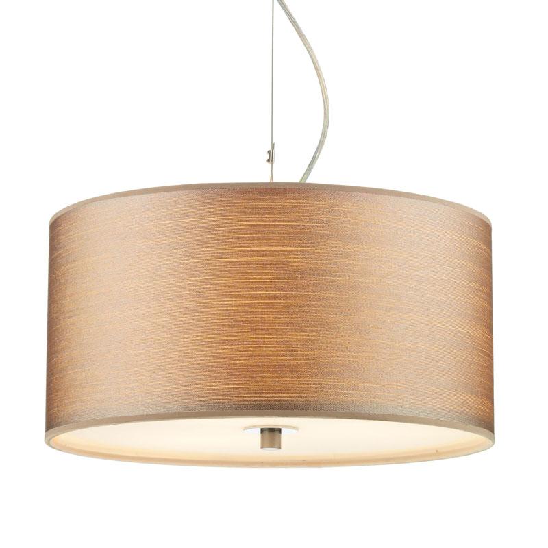 Dar Tuscan 3 Light Ceiling Pendant - Taupe