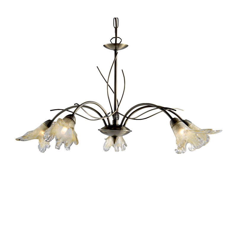 Searchlight Lily 5 Light Dual Mount Ceiling Light - Antique