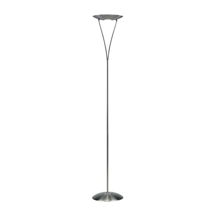 Dar Opus Uplighter Floor Lamp - Satin Chrome