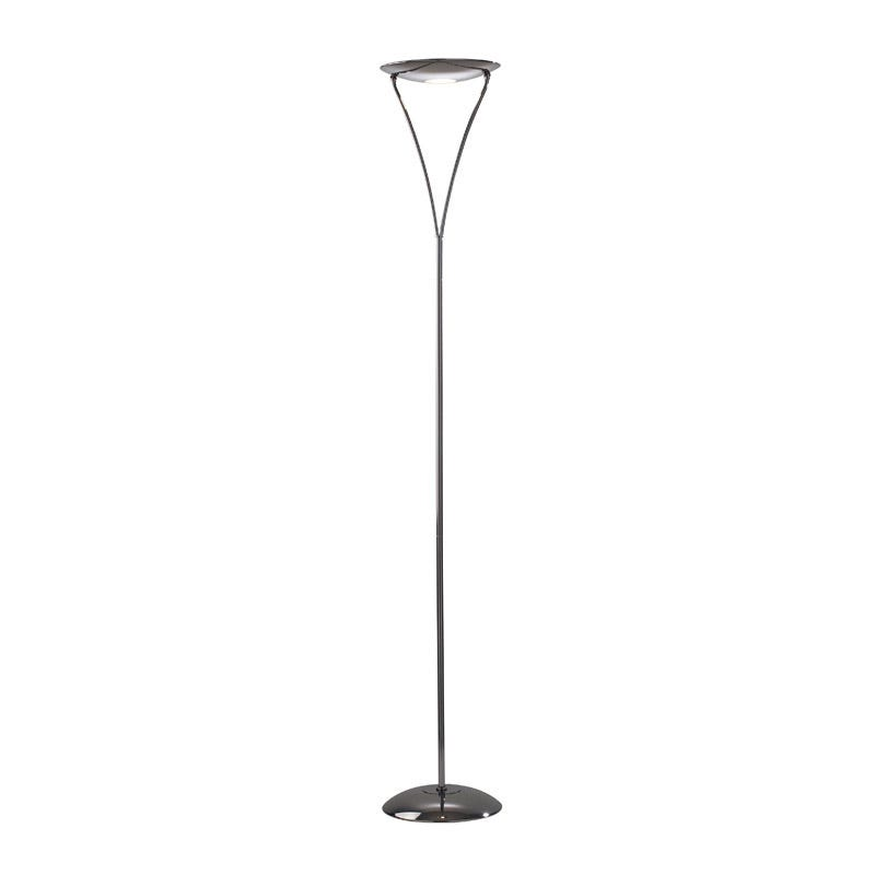 Dar Opus Uplighter Floor Lamp - Black Chrome