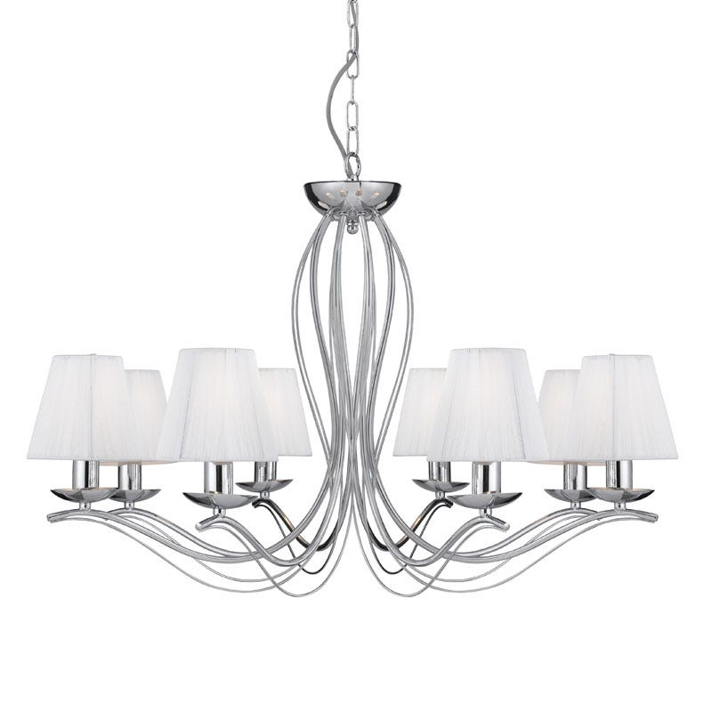 Searchlight Andretti 8 Light Chandelier - Polished Chrome