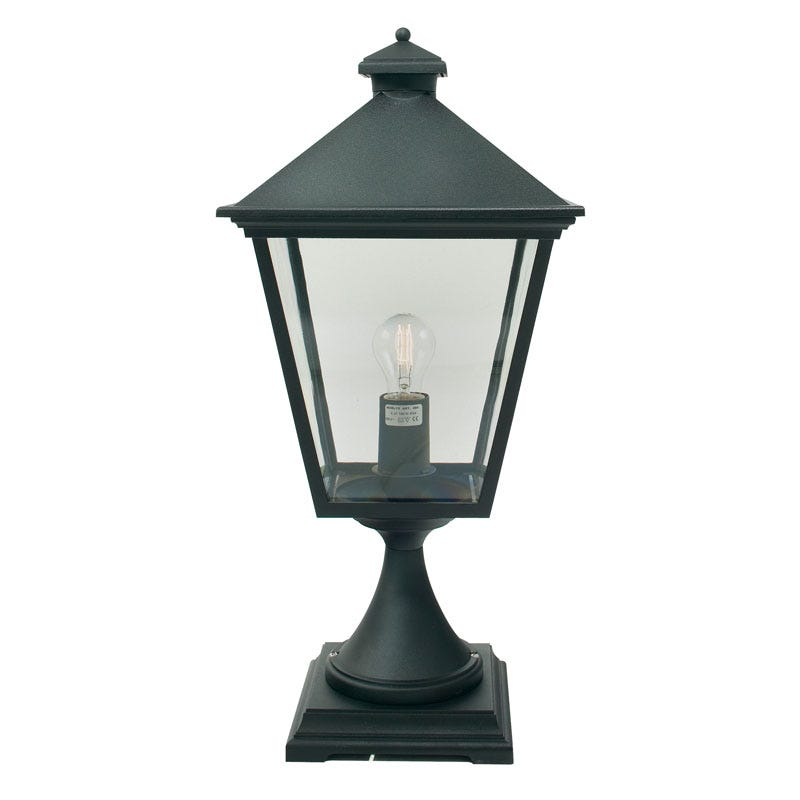 Norlys Turin Outdoor Pedestal Light - Black