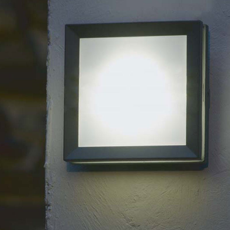 Lutec Mini Seine Low Energy Outdoor Wall Light - Plain