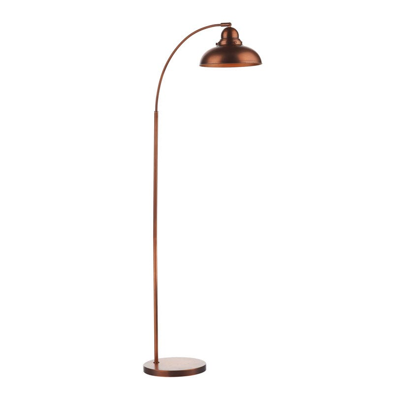 Dar Dynamo Floor Lamp - Antique Copper - Lighting Direct
