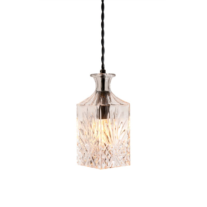 Searchlight Wine Bar Decanter Ceiling Pendant Light - Square