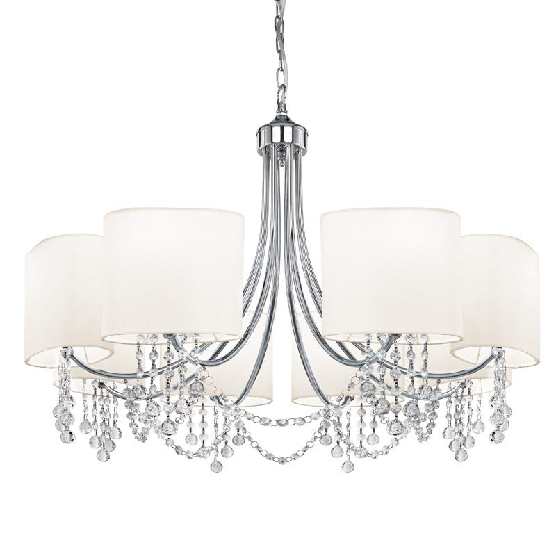 Searchlight Nina 8 Light Chandelier - Polished Chrome
