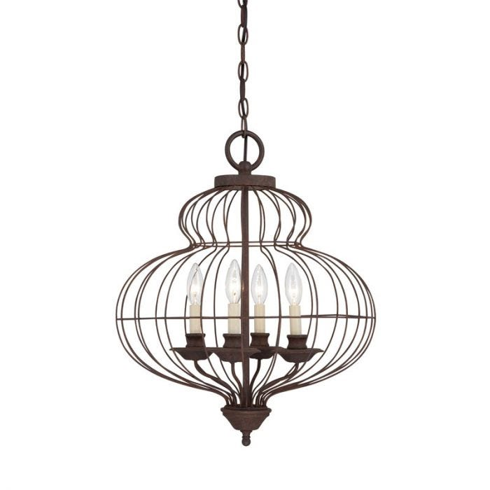Quoizel Laila 4 Light Chandelier - Antique Bronze