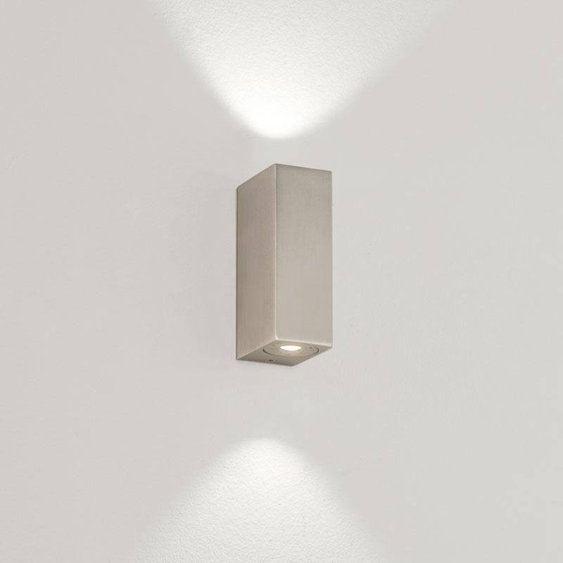 Astro Bloc LED Wall Light - Matt Nickel