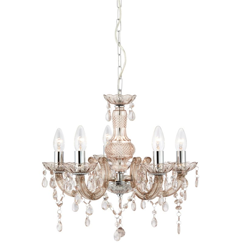 Searchlight Marie Therese 5 Light Chandelier Ceiling Light  Mink