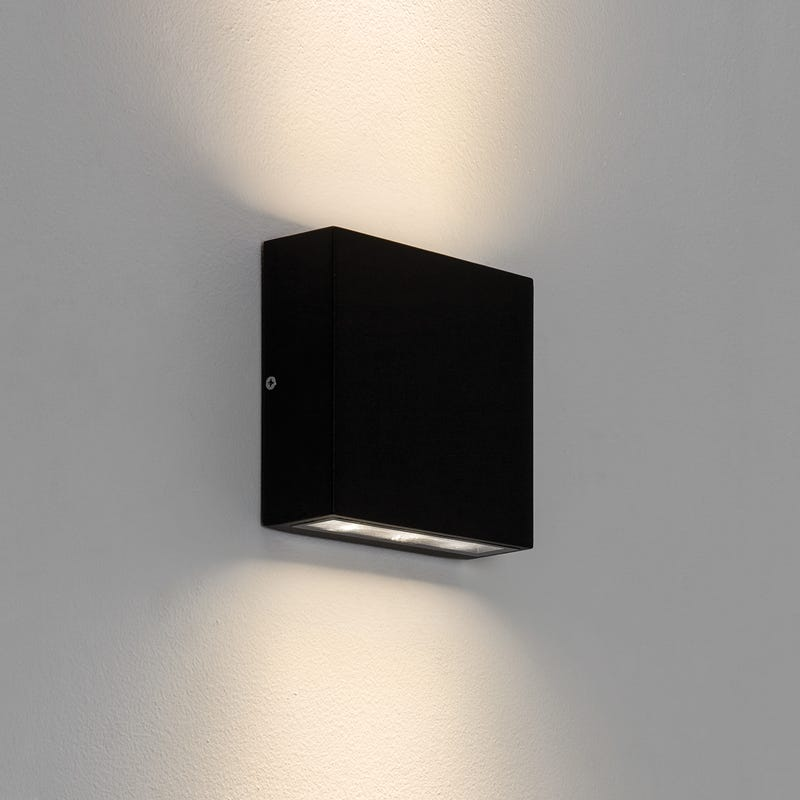 Astro Elis LED Twin Wall Light - Black