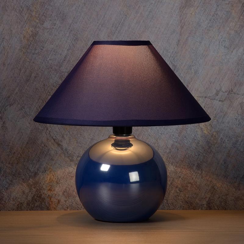 lucide faro ceramic table lamp  blue