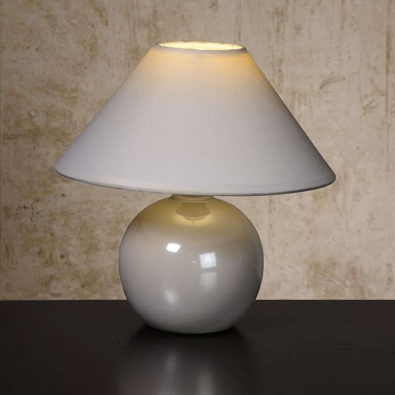 lucide faro ceramic table lamp  white