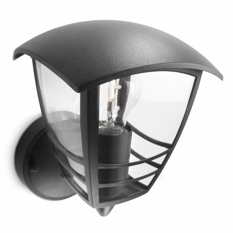 Philips Creek Outdoor Lantern Wall Light - Black