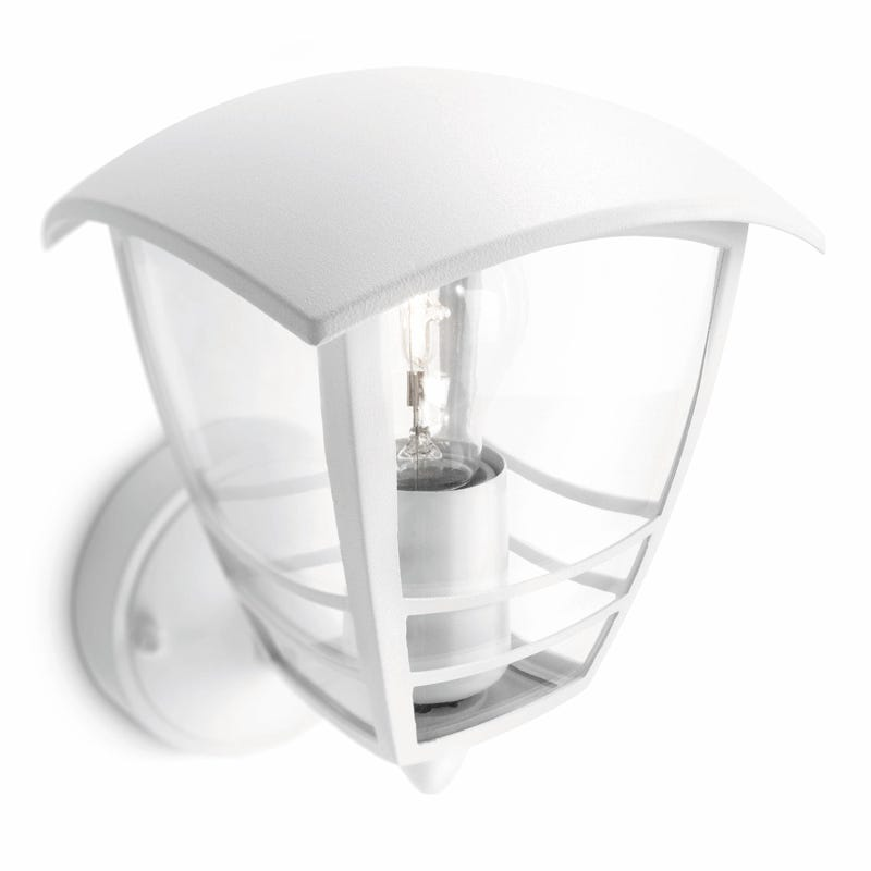Philips Creek Outdoor Lantern Wall Light - White