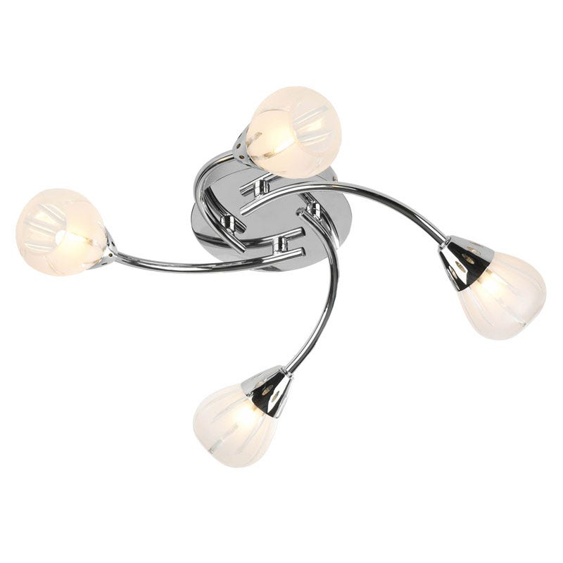 Villa 4 Light Fitting - Polished Chrome
