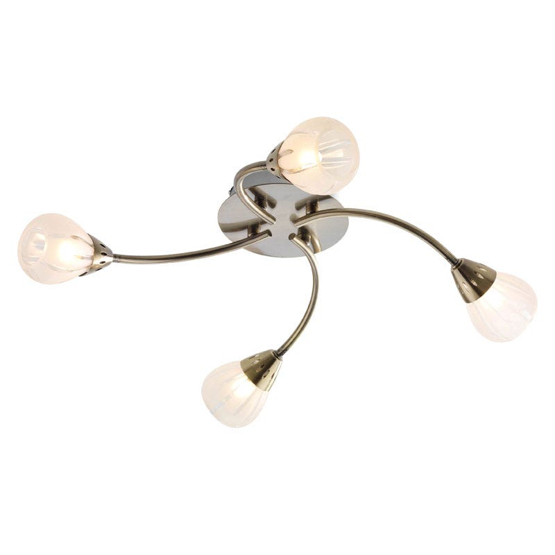 Villa 4 Light Fitting - Antique Brass